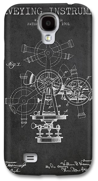 Surveying Instrument Patent From 1901 - Charcoal Galaxy S4 Case by Aged Pixel
