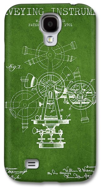 Surveying Instrument Patent From 1901 - Green Galaxy S4 Case by Aged Pixel