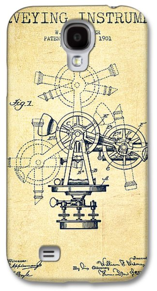 Surveying Instrument Patent From 1901 - Vintage Galaxy S4 Case by Aged Pixel