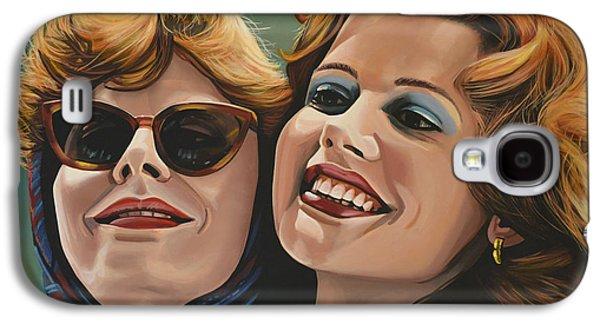 Susan Sarandon And Geena Davies Alias Thelma And Louise Galaxy S4 Case by Paul Meijering