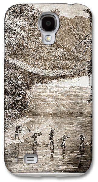 Suspension Bridge Over The Lulindi, Africa Galaxy S4 Case by Litz Collection