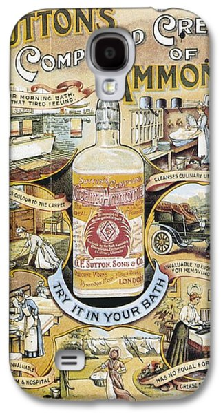 Sutton's Compound Cream Of Ammonia Vintage Ad Galaxy S4 Case by Gianfranco Weiss
