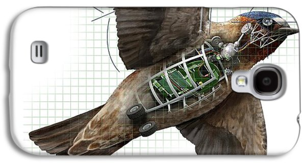 Swallow Galaxy S4 Case - Swallow Drone Robotics by Nicolle R. Fuller