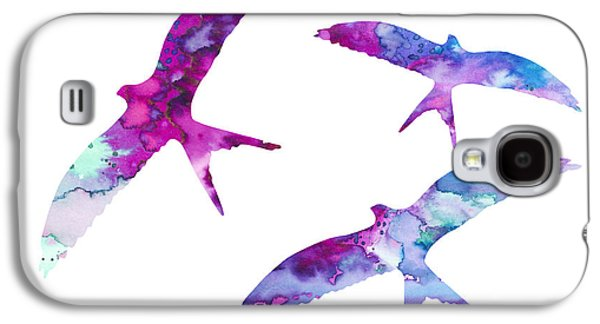 Swallow Galaxy S4 Case - Swallows by Watercolor Girl