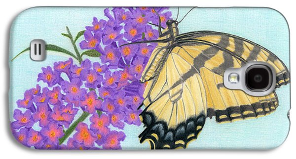 Swallowtail Butterfly And Butterfly Bush Galaxy S4 Case by Sarah Batalka