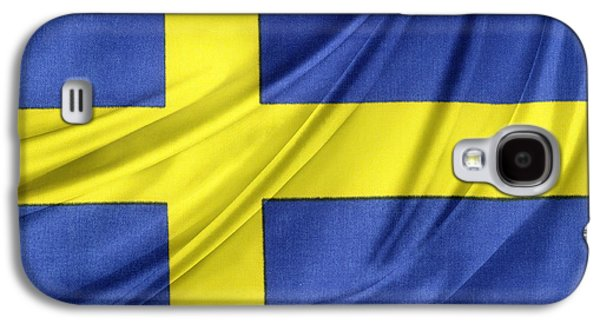 Swedish Flag Galaxy S4 Case by Les Cunliffe