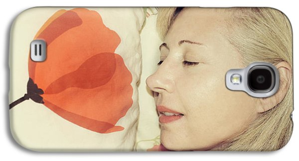 Sweet Poppy Dreams Galaxy S4 Case by Laurie Search
