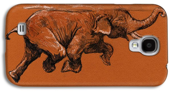 Swimming Elephant Galaxy S4 Case by Juan  Bosco