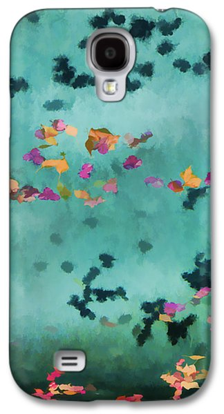 Swirling Leaves And Petals 1 Galaxy S4 Case