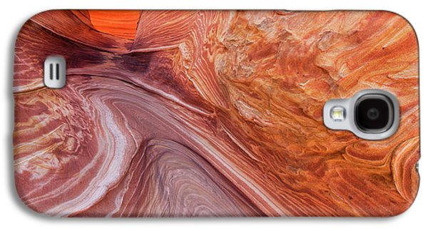 Swirling Sandstone At The Wave Galaxy S4 Case by Chuck Haney