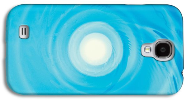 Swirling Water In Blue, Full Frame Galaxy S4 Case by Panoramic Images