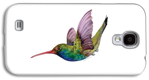 Swooping Broad Billed Hummingbird Galaxy S4 Case by Amy Kirkpatrick