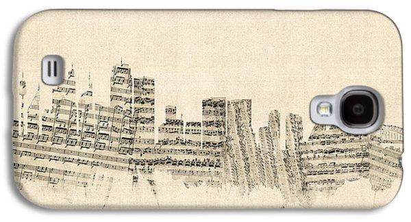 Sydney Australia Skyline Sheet Music Cityscape Galaxy S4 Case