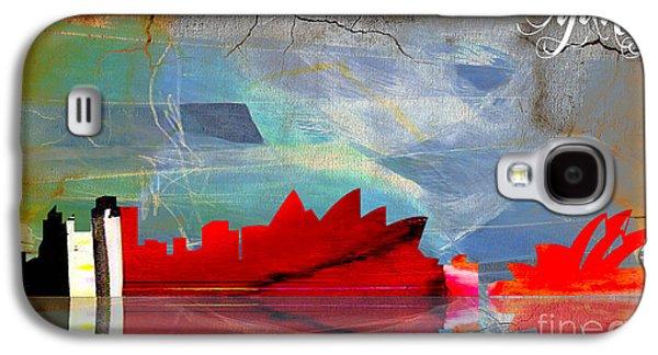 Sydney Australia Skyline Watercolor Galaxy S4 Case