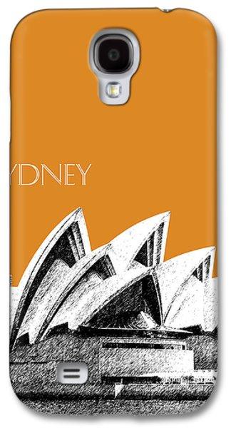 Sydney Skyline 3  Opera House - Dark Orange Galaxy S4 Case