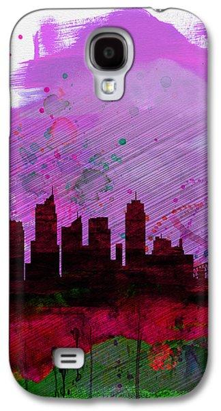 Sydney Watercolor Skyline 2 Galaxy S4 Case