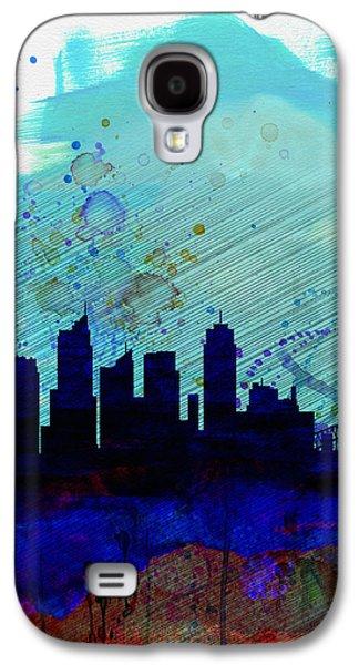 Sydney Watercolor Skyline Galaxy S4 Case by Naxart Studio