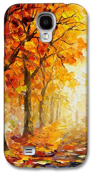 Symbols Of Autumn - Palette Knife Oil Painting On Canvas By Leonid Afremov Galaxy S4 Case by Leonid Afremov