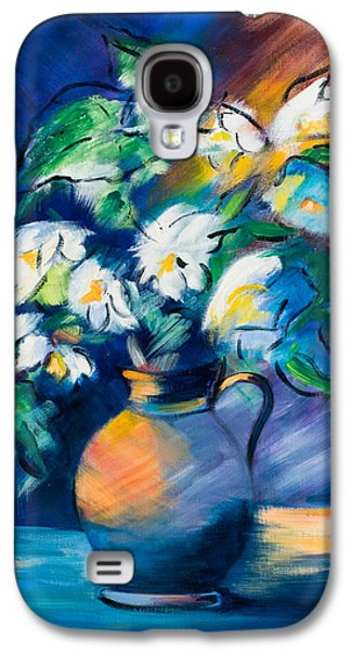 Symphony In Blue Galaxy S4 Case by Elise Palmigiani