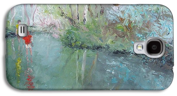 Tad Poling At The Creek Galaxy S4 Case by Jan Matson
