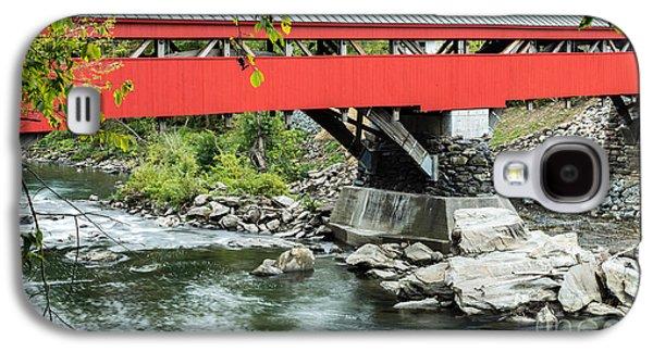 Taftsville Covered Bridge Vermont Galaxy S4 Case by Edward Fielding