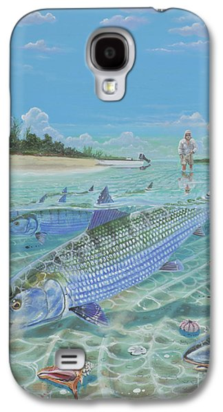 Tailing Bonefish In003 Galaxy S4 Case by Carey Chen