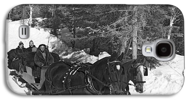 Taking A Sleigh Ride In Canada Galaxy S4 Case by Underwood Archives
