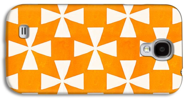 Tangerine Twirl Galaxy S4 Case by Linda Woods