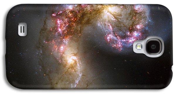 Tangled Galaxies Galaxy S4 Case by Adam Romanowicz