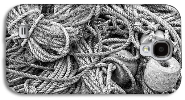 Tangled Rope On Dock In Maine Galaxy S4 Case by Keith Webber Jr