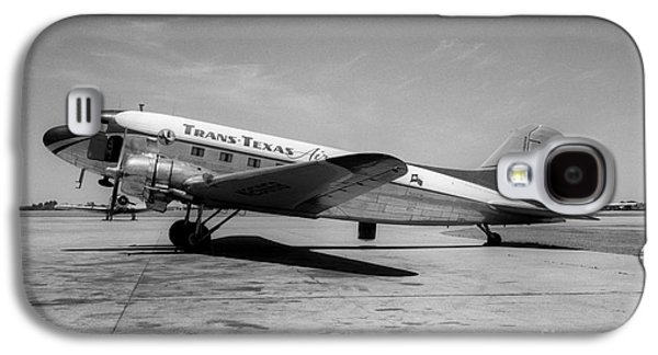 Tans-texas Air Douglas Dc-3 Galaxy S4 Case by Wernher Krutein