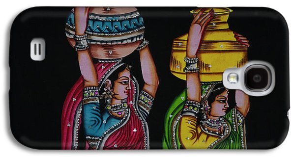 Tapestry Depicting Indian Girls Galaxy S4 Case