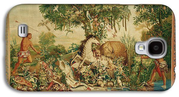 Tapestry Le Cheval Rayé From Les Anciennes Indes Series Galaxy S4 Case by Litz Collection