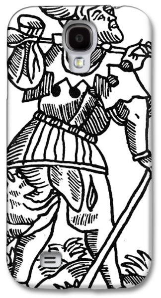 Tarot Card The Fool Galaxy S4 Case by Granger