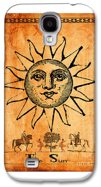 Tarot Card The Sun Galaxy S4 Case by Cinema Photography