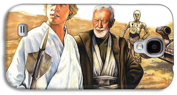 Tatooine Massacre Galaxy S4 Case by Edward Draganski