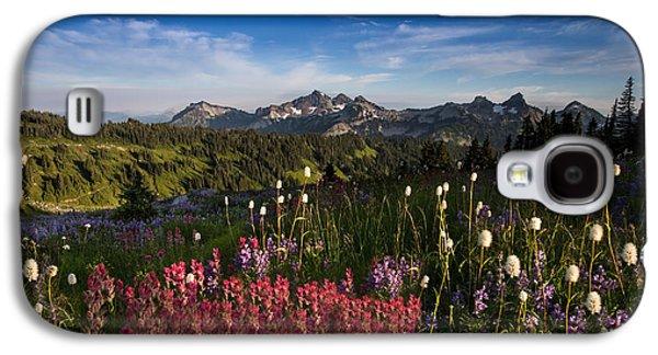 Tatoosh Mountain Range Galaxy S4 Case by Larry Marshall