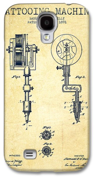 Tattooing Machine Patent From 1891 - Vintage Galaxy S4 Case by Aged Pixel