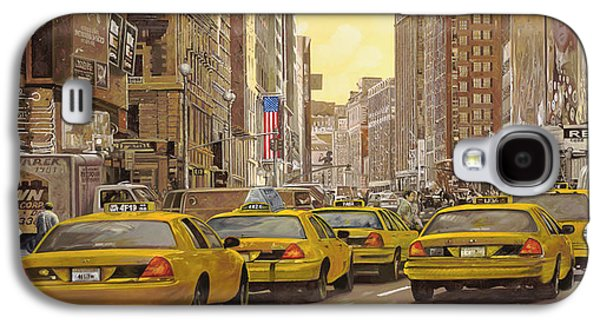 taxi a New York Galaxy S4 Case by Guido Borelli