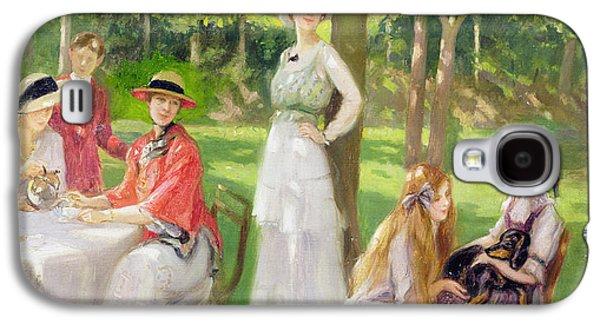 Tea In The Garden Galaxy S4 Case by Jules Cayron