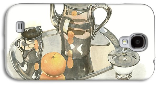 Tea Service With Orange Galaxy S4 Case by Kip DeVore