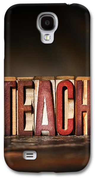 Teach Antique Letterpress Printing Blocks Galaxy S4 Case by Donald  Erickson