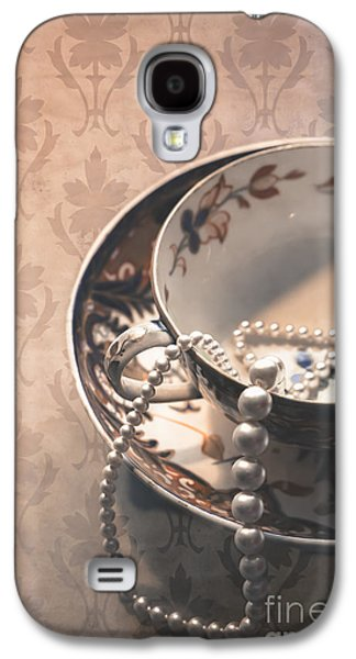 Teacup And Pearls Galaxy S4 Case by Jan Bickerton