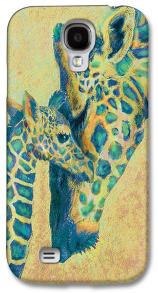 Teal Giraffes Galaxy S4 Case by Jane Schnetlage