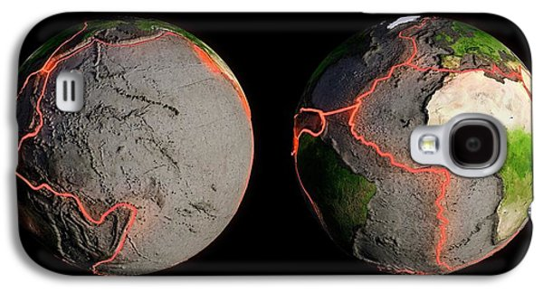 Tectonic Plates And Fault Lines Galaxy S4 Case by Andrzej Wojcicki