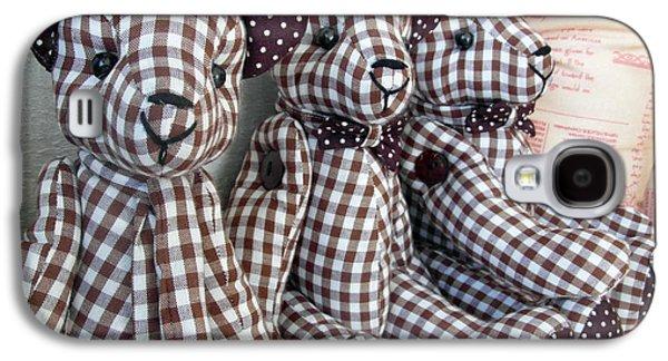 Teddy Bear Triplets Galaxy S4 Case by Ian Scholan
