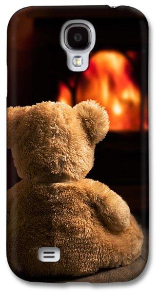 Teddy By The Fire Galaxy S4 Case