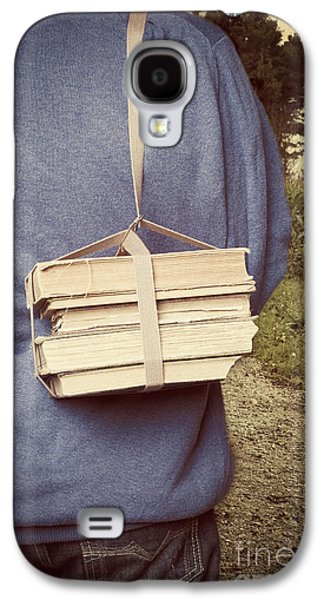Teen Boy's Back With Books Galaxy S4 Case