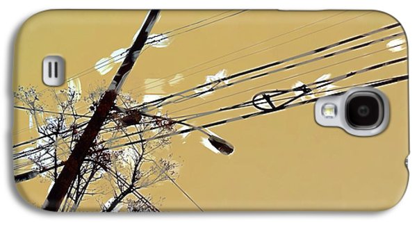 Telephone Pole With Light Galaxy S4 Case by H James Hoff