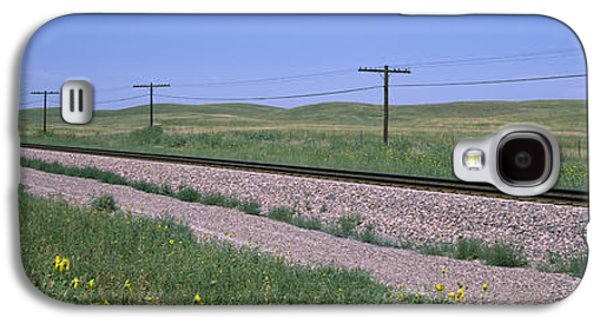 Telephone Poles Along A Railroad Track Galaxy S4 Case by Panoramic Images